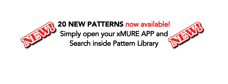 20 NUOVI PATTERNS per la app XMURE Arranger